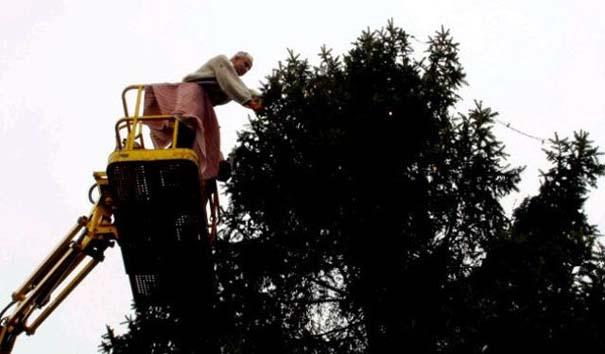 Το μικρό Χριστουγεννιάτικο δέντρο που «μάγεψε» όλη την περιοχή (2)