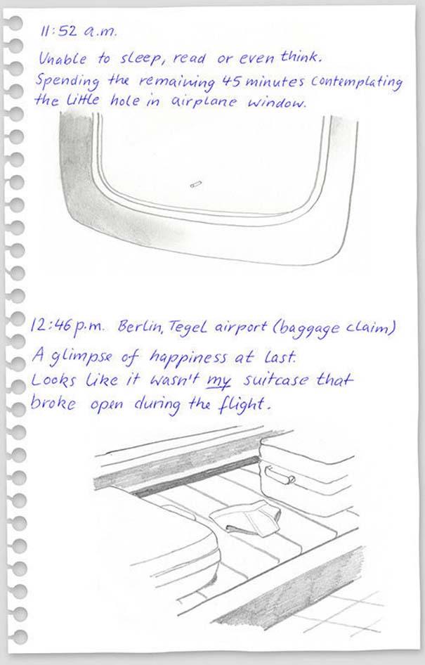 Η πτήση Νέα Υόρκη - Βερολίνο μέσα από το ημερολόγιο με σκίτσα ενός επιβάτη (7)