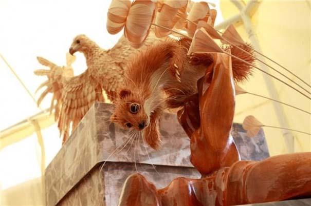 Απίστευτα ρεαλιστικά γλυπτά ζώων από ξύσματα μολυβιού (6)