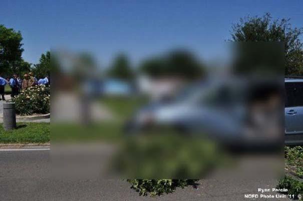 Σπάνιο τροχαίο ατύχημα στη Νέα Ορλεάνη (1)