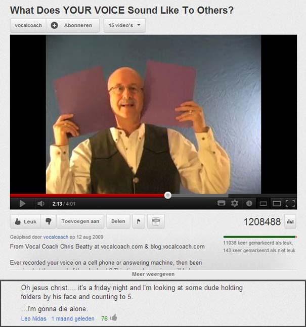 Παράξενα & ξεκαρδιστικά σχόλια στο YouTube (16)