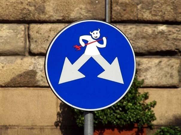 «Πειραγμένες» οδικές πινακίδες (3)