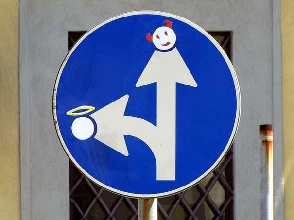 «Πειραγμένες» οδικές πινακίδες (10)