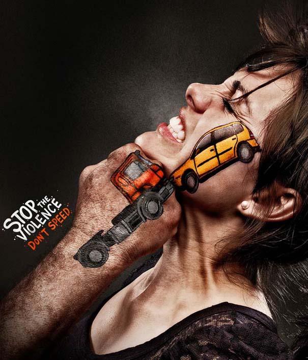 Ευρηματική καμπάνια για την πρόληψη τροχαίων ατυχημάτων (2)