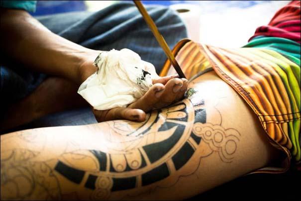 Πως γίνονται τα Bamboo Tattoos (9)