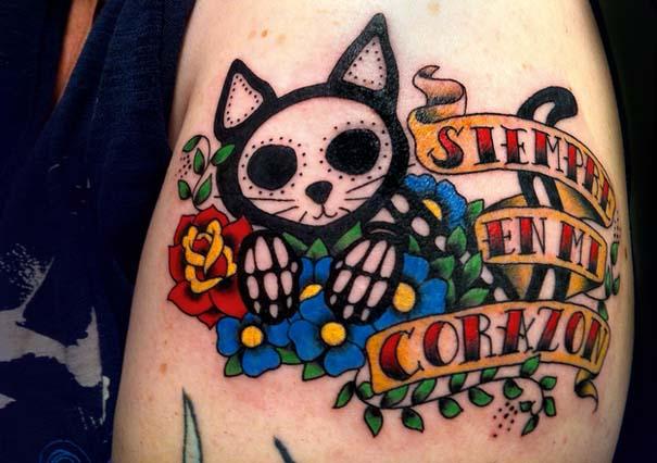 Τατουάζ με γάτες (2)