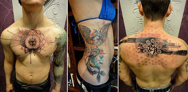 Τατουάζ που μοιάζουν βγαλμένα από το Photoshop (1)