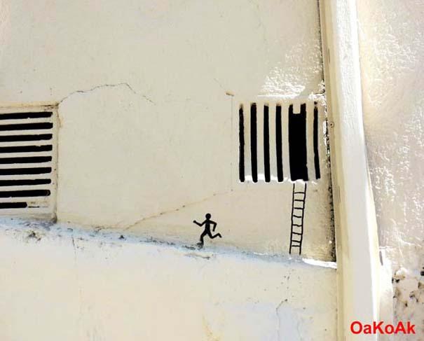 Χιουμοριστική τέχνη του δρόμου από τον OaKoAk (8)