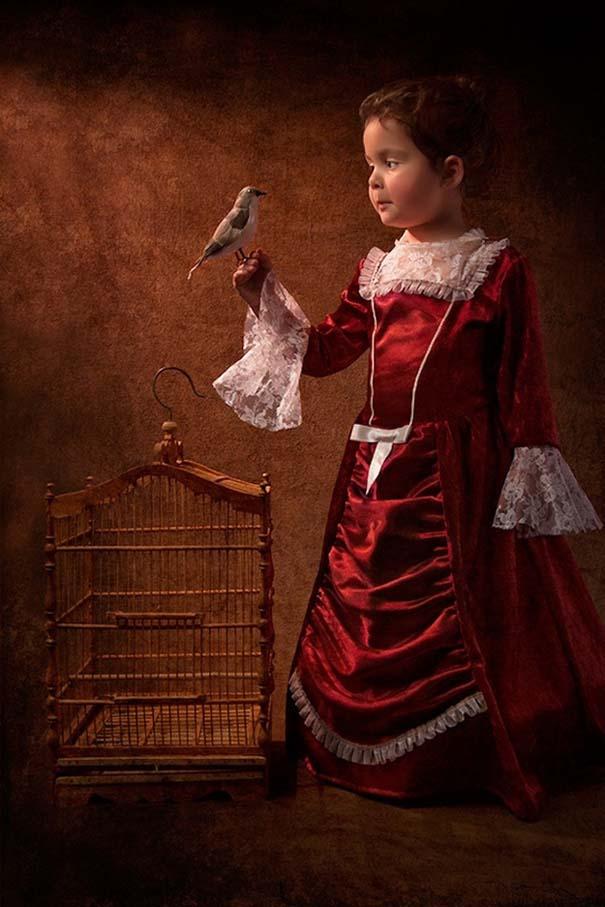 15 κλασσικοί πίνακες ζωγραφικής σε υπέροχες αναπαραστάσεις από ένα μικρό κορίτσι (2)