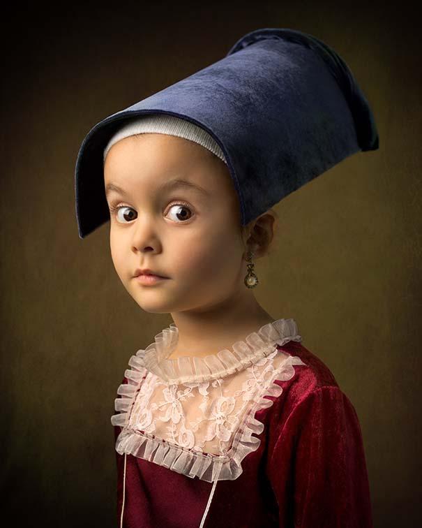 15 κλασσικοί πίνακες ζωγραφικής σε υπέροχες αναπαραστάσεις από ένα μικρό κορίτσι (6)