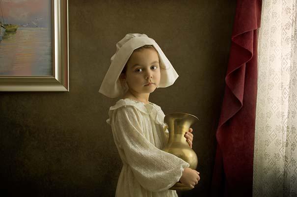 15 κλασσικοί πίνακες ζωγραφικής σε υπέροχες αναπαραστάσεις από ένα μικρό κορίτσι (9)