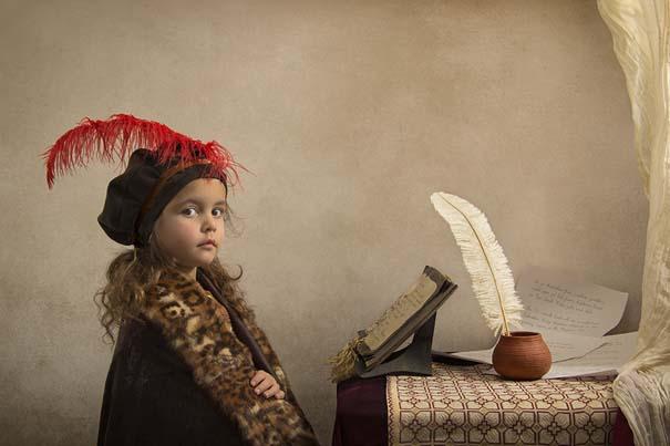 15 κλασσικοί πίνακες ζωγραφικής σε υπέροχες αναπαραστάσεις από ένα μικρό κορίτσι (11)