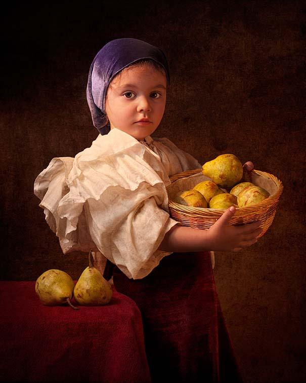 15 κλασσικοί πίνακες ζωγραφικής σε υπέροχες αναπαραστάσεις από ένα μικρό κορίτσι (14)