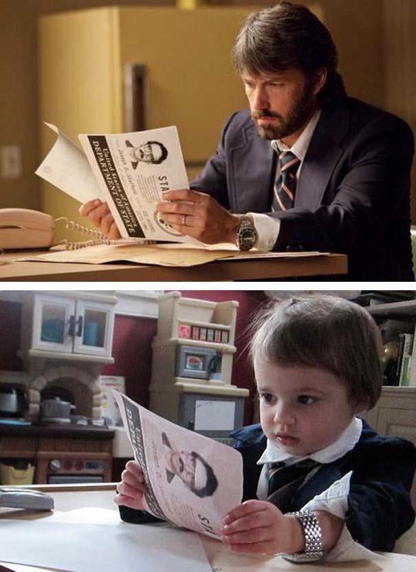 Παιδάκι κάνει αναπαράσταση σκηνών από οσκαρικές ταινίες (6)