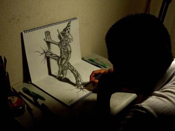 Εκπληκτικά 3D σκίτσα από τον Nagai Hideyuki (9)