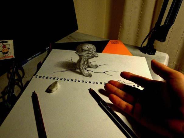 Εκπληκτικά 3D σκίτσα από τον Nagai Hideyuki (11)