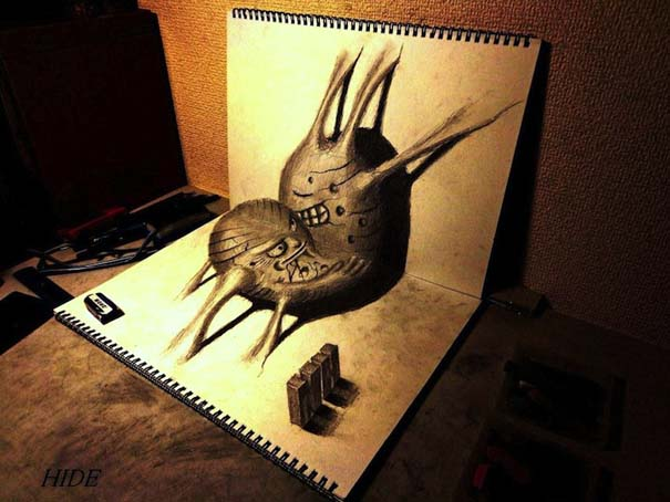 Εκπληκτικά 3D σκίτσα από τον Nagai Hideyuki (12)