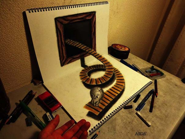Εκπληκτικά 3D σκίτσα από τον Nagai Hideyuki (13)