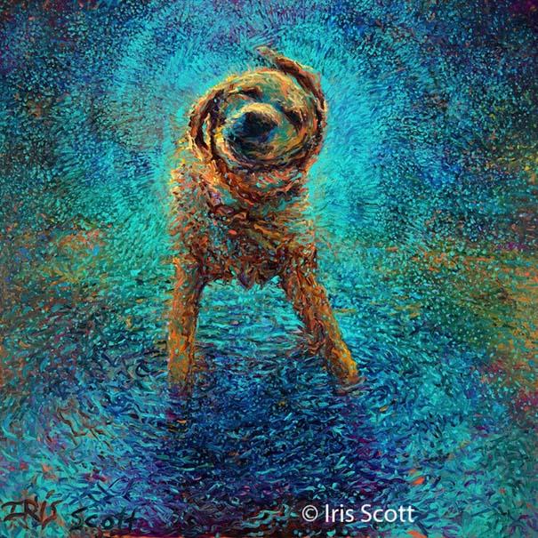 Η Iris Scott παίζει τη ζωγραφική... στα δάχτυλα (1)