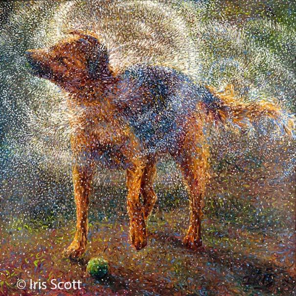 Η Iris Scott παίζει τη ζωγραφική... στα δάχτυλα (2)