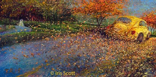 Η Iris Scott παίζει τη ζωγραφική... στα δάχτυλα (4)