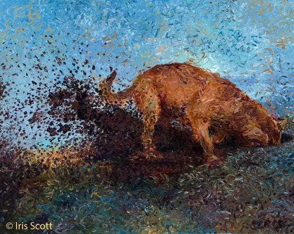Η Iris Scott παίζει τη ζωγραφική... στα δάχτυλα (8)