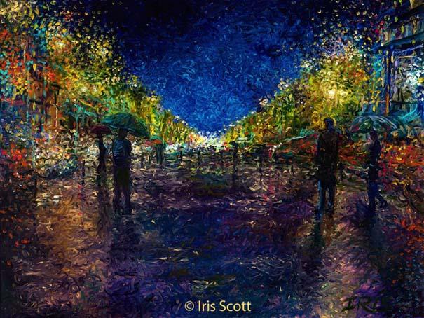 Η Iris Scott παίζει τη ζωγραφική... στα δάχτυλα (11)