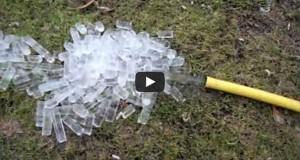Λάστιχο ποτίσματος μετά από παγετό (Video)