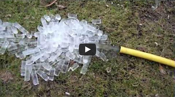 Λάστιχο ποτίσματος μετά από παγετό