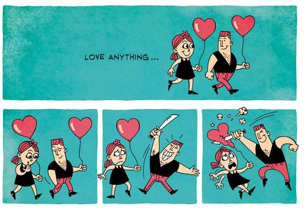 Ένα κόμικ σχετικά με τον έρωτα... (1)