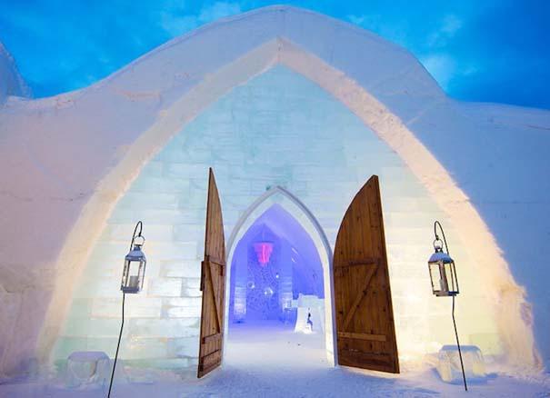 Μαγευτικό ξενοδοχείο από πάγο στον Καναδά (2)