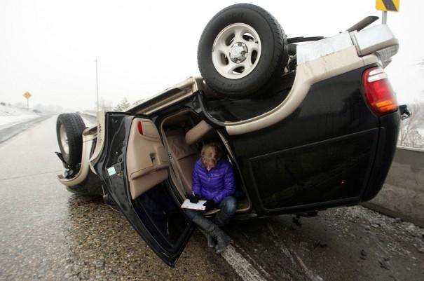 Συμπληρώνοντας την δήλωση ατυχήματος...   Φωτογραφία της ημέρας