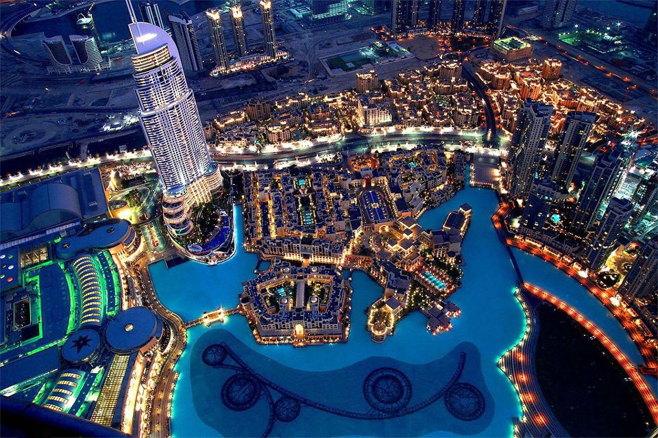 Dubai by night for The most beautiful hotel in dubai