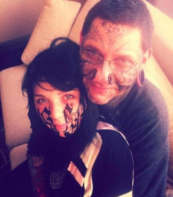 Τον έκανε τατουάζ στο πρόσωπο της μόλις τον γνώρισε (4)
