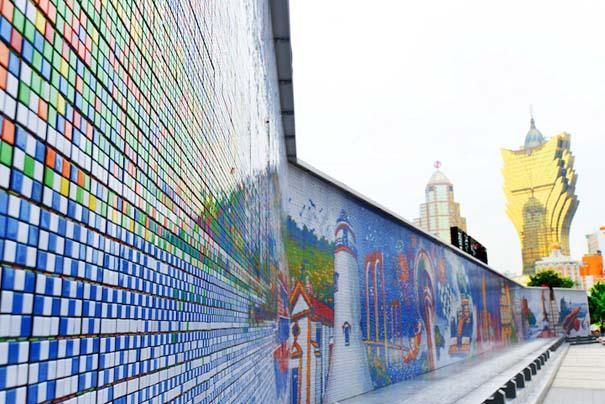 Τοιχογραφία ρεκόρ από 85.794 κύβους του Rubik (2)