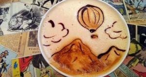 Υπέροχη τέχνη σε καφέ #6