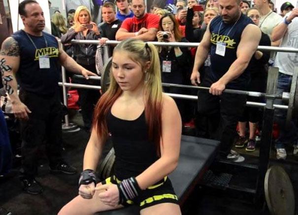 13χρονη Ρωσίδα σηκώνει 110 κιλά