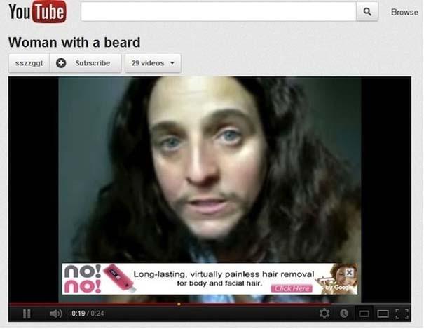 Ατυχώς τοποθετημένες διαφημίσεις στο YouTube (1)