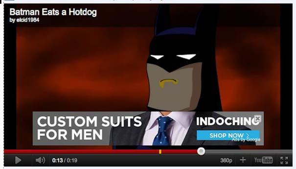 Ατυχώς τοποθετημένες διαφημίσεις στο YouTube (2)