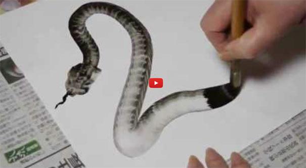 Φίδι με μια πινελιά