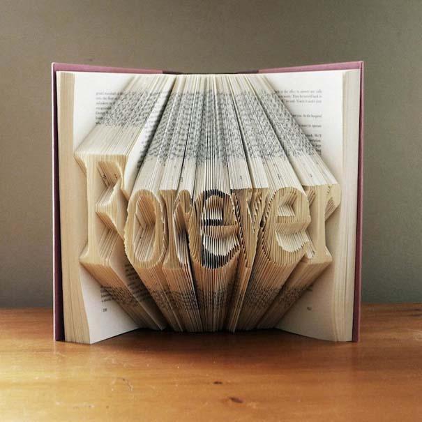 Απίστευτα γλυπτά με διπλωμένες σελίδες βιβλίων (4)