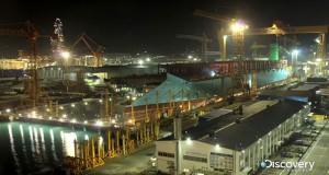 Η κατασκευή του μεγαλύτερου πλοίου στον κόσμο σε 76 δευτερόλεπτα (Video)