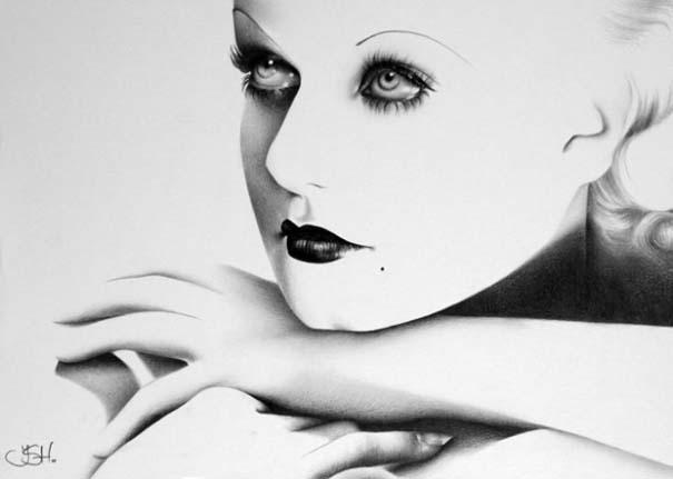 Μινιμαλιστικά πορτραίτα διάσημων γυναικών (8)