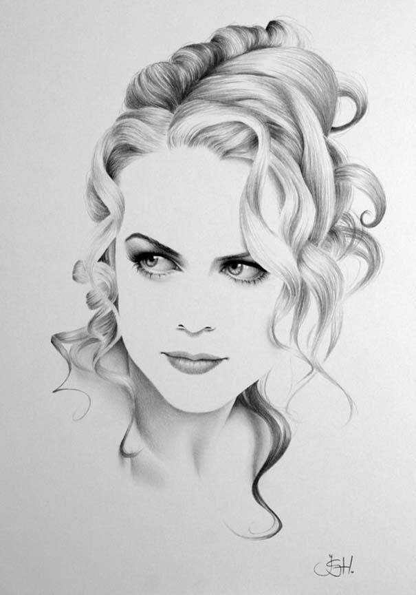 Μινιμαλιστικά πορτραίτα διάσημων γυναικών (11)