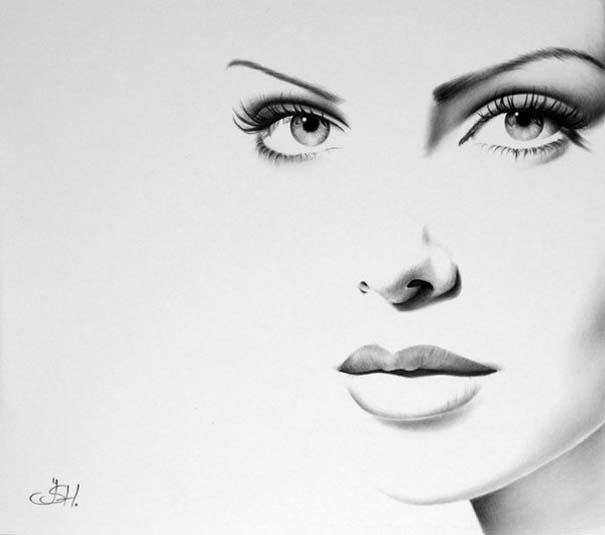 Μινιμαλιστικά πορτραίτα διάσημων γυναικών (15)