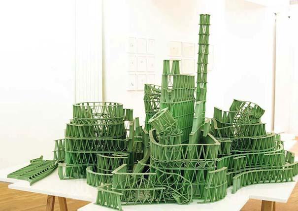 Περίτεχνες 3D κατασκευές από τσίχλες (1)