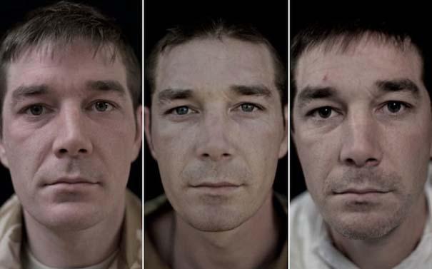 Πρόσωπα στρατιωτών πριν, κατά τη διάρκεια και μετά τον πόλεμο (1)