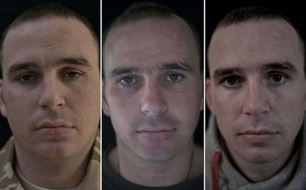 Πρόσωπα στρατιωτών πριν, κατά τη διάρκεια και μετά τον πόλεμο (2)