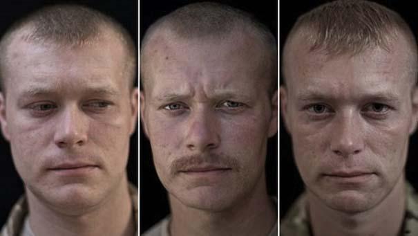 Πρόσωπα στρατιωτών πριν, κατά τη διάρκεια και μετά τον πόλεμο (4)