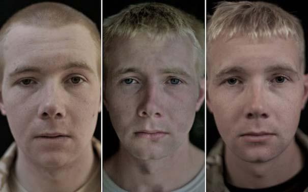 Πρόσωπα στρατιωτών πριν, κατά τη διάρκεια και μετά τον πόλεμο (10)
